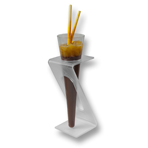 Plastic cone cup and stand