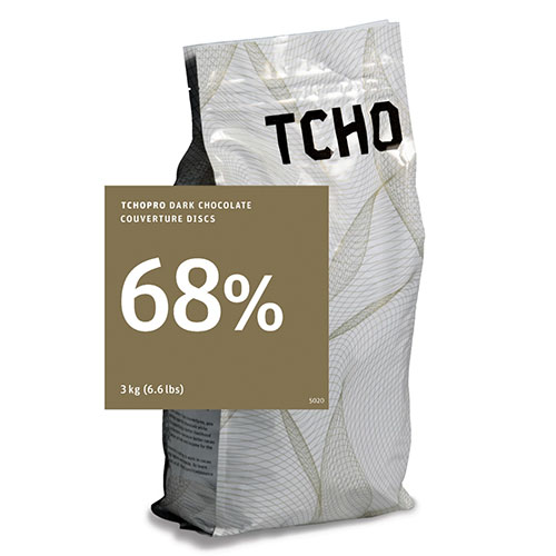 Tcho 68% Dark Chocolate Discs