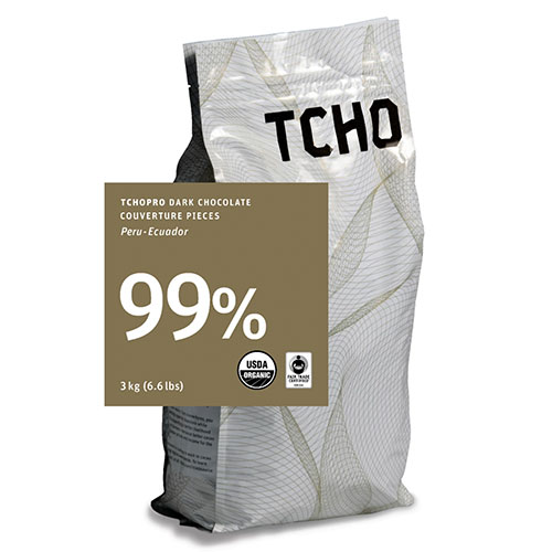 TCHO 99% Unsweetened dark chocolate discs